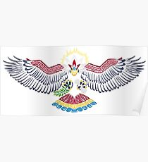 Colored Tribalish Braviary - The All-American Bird Poster