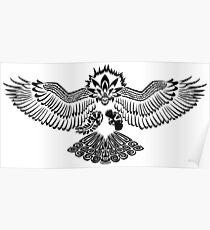 Tribalish Braviary - The All-American Bird Poster