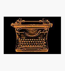 Typewriter Photographic Print