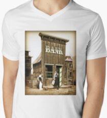 Old West Bandit Mens V-Neck T-Shirt