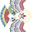 Colored Tribalish Braviary (sticker version) - The All-American Bird by vaguelygenius