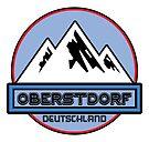 Ski OBERSTDORF Deutschland Bayern Skiing Ski Mountain Art Germany by MyHandmadeSigns