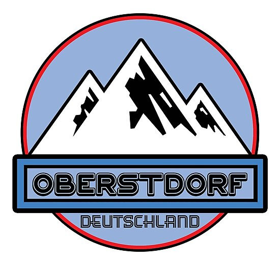 Ski OBERSTDORF Deutschland Bayern Skiing Ski Mountain Art Germany by MyHandmadeSigns