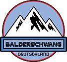 Ski BALDERSCHWANG Deutschland Bayern Skiing Ski Mountain Art Germany by MyHandmadeSigns