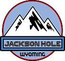 Skiing Jackson Hole Wyoming Ski Mountain Skiing Art Mountains Snow by MyHandmadeSigns