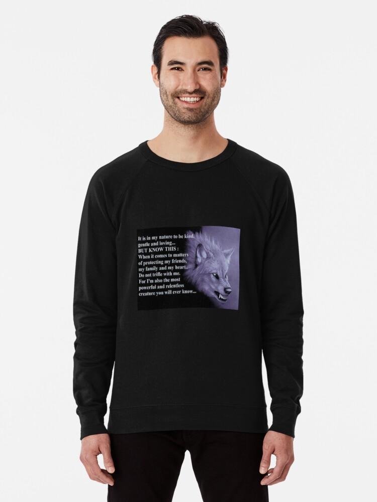 'Wolf Spirit Animal ' Lightweight Sweatshirt by DerpyFoxes