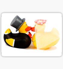 Wedding ducks in love! Sticker