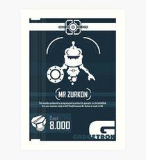 Mr Zurkon - Ratchet and Clank Art Print