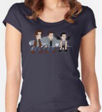 Sam, Dean, Castiel Women's Fitted Scoop T-Shirt
