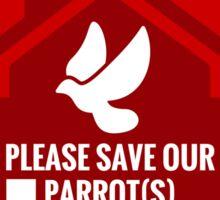 Save Our Birds Sticker