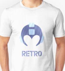 Retro - Blue Bomber Textured T-Shirt