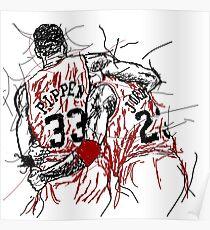 "Scottie Pippen and Michael Jordan ""Flu Game"" Poster"