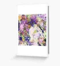Colour Turmoil - Multi Coloured Abstract Painting Greeting Card