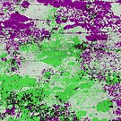 Purple Meets Green - Abstract Painting by Printpix