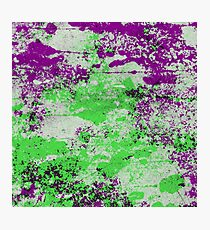 Purple Meets Green - Abstract Painting Photographic Print