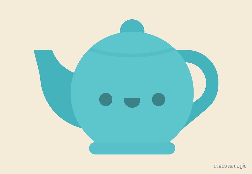 Cute Kawaii Teapot by thecutemagic
