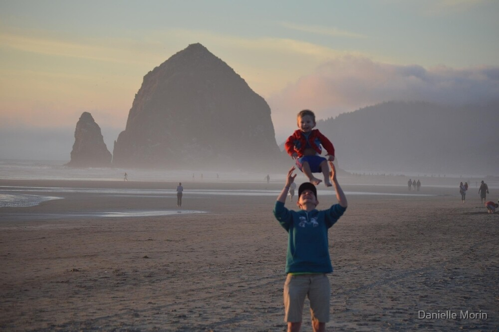 Lucas and Momma Haystack Toss by Danielle Morin
