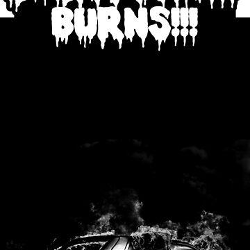 """Goth Scene Black """"Everything Burns!!!"""" Dark Pyro Design by WickedWays"""
