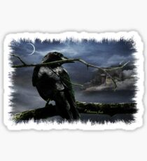 """Quoth The Raven, """"Nevermore"""" Sticker"""