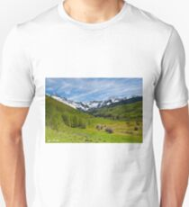 Dallas Creek Valley and the Sneffels Range Unisex T-Shirt
