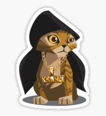 Cute Gangster Kitty Sticker