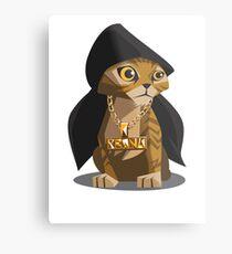 Cute Gangster Kitty Metal Print