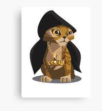 Cute Gangster Kitty Canvas Print