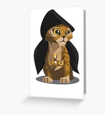 Cute Gangster Kitty Greeting Card