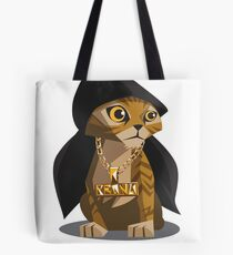 Cute Gangster Kitty Tote Bag