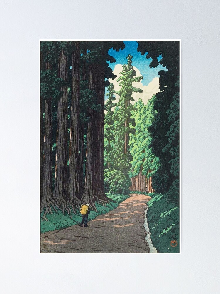 Alternate view of Nikkô gaidô - Hasui Kawase Poster