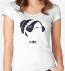 Ada Lovelace (Hirsute History) Women's Fitted Scoop T-Shirt