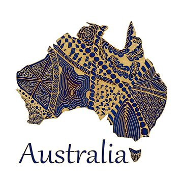Tangled Australia Map by Quidama