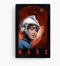Mars One Retro Sci-Fi Astronaut Canvas Print