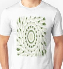 Green White Kaleidoscope Art 11 T-Shirt