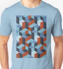 Funky Geometric Texured Unisex T-Shirt