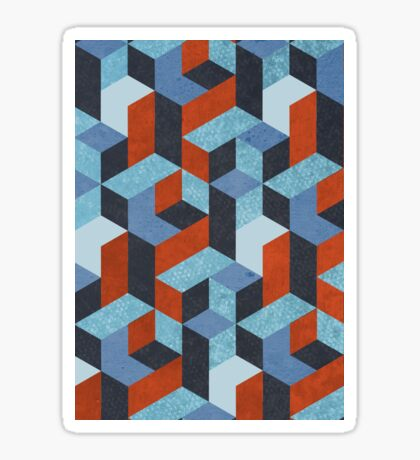 Funky Geometric Texured Sticker