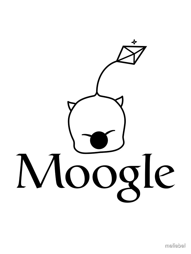 When in doubt, Moogle it! (black version) by Melanie St. Clair
