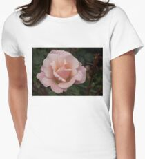 Rose and Rain - Soft Pink Raindrops Womens Fitted T-Shirt