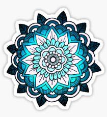 mandala: bright blue Sticker