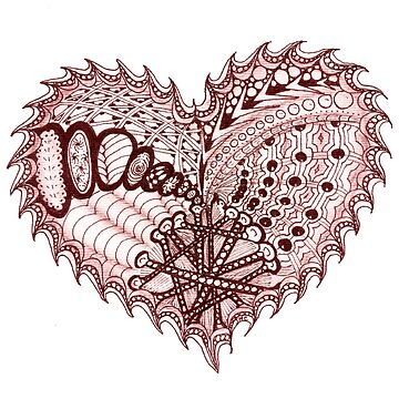 Heart Fire Doodled Patterns by Quidama