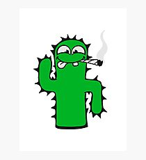 weed cannabis joint drug cannabis smoke weed kiffer cactus Photographic Print