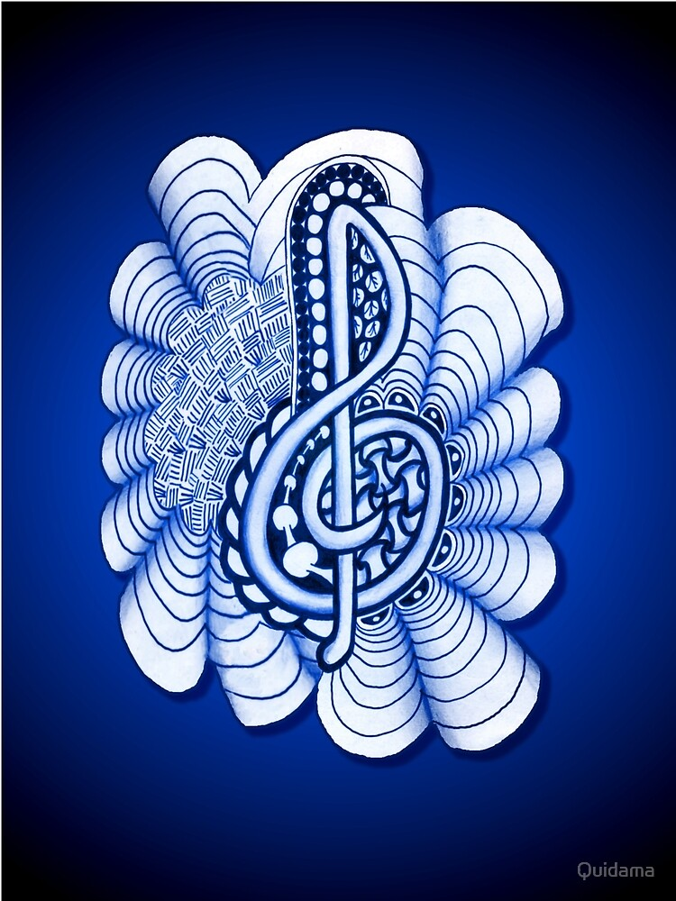 Musical Treble Clef  by Quidama