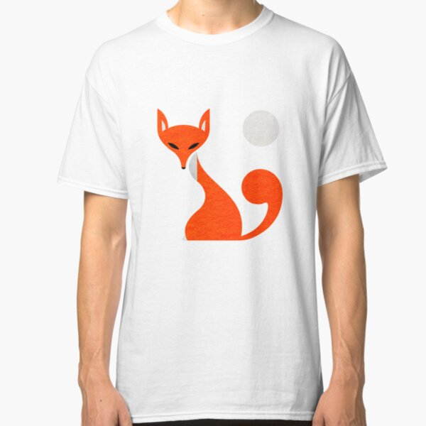 Fox and Moon Semicolon Version Classic T-Shirt