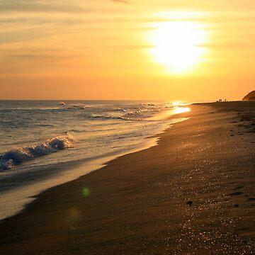 Golden Beach Sunset by Quidama