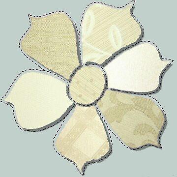 Flower Fabric Cutout  by Quidama