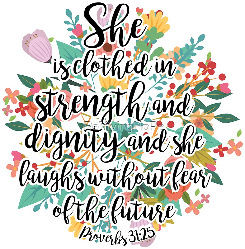 "Proverbs 31 25: ""Proverbs 31:25"" Stickers By ReVivingHoPe"