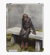 """""""Mary"""" on a bench with a pipe, ca 1940 iPad Case/Skin"""