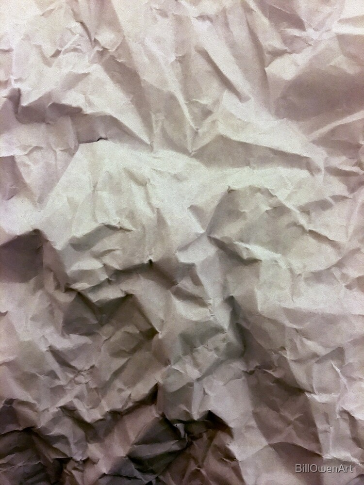 """""""crumpled paper"""" iPhoneography by BillOwenArt"""