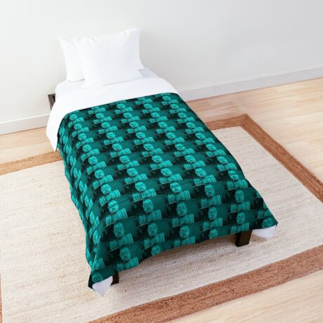 Karma in Turquise  Comforter