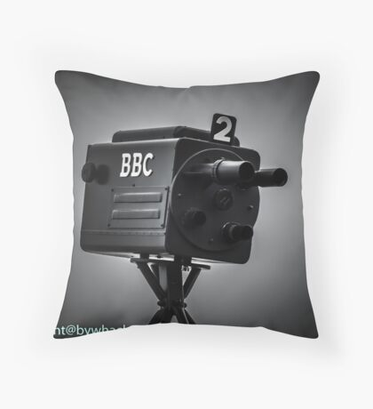 Retro bbc camera  Throw Pillow